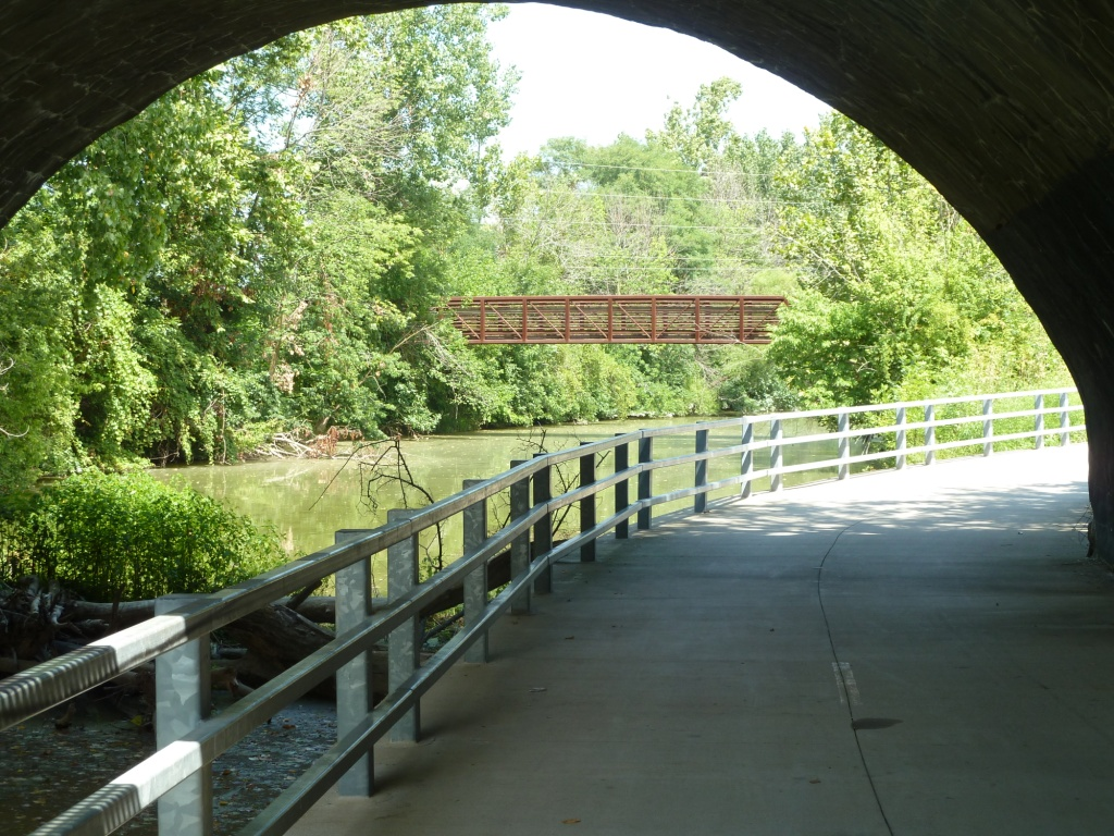 Bike Trail under Bridge by Water