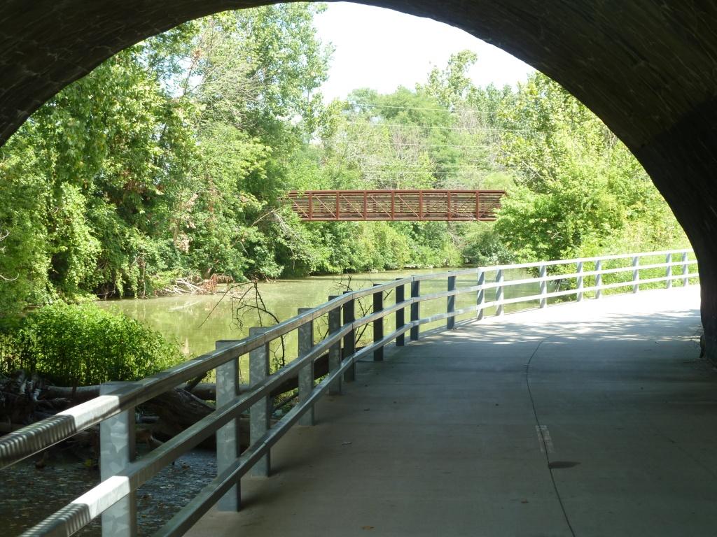 Bike Trail under Bridge by Water